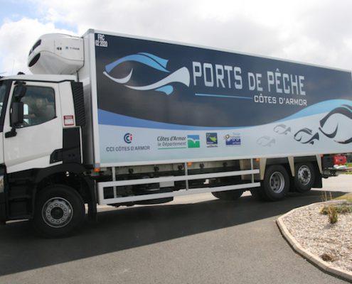 Marquage Camion Ports de Pêche des Cotes d'Armor