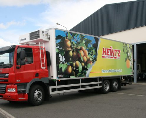 marquage des camions Heintz